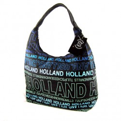 SHOULDER BAG CANVAS HOLLAND GREY-BLUE BIG