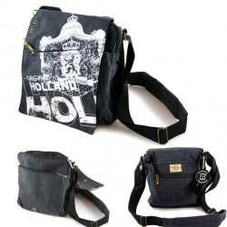 SHOULDER BAG MESSENGER CANVAS HOLLAND BLACK
