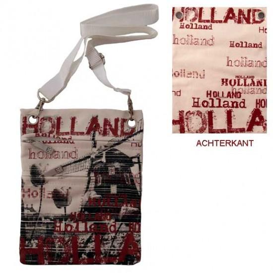 Shoulder purse creme bordeaux holland