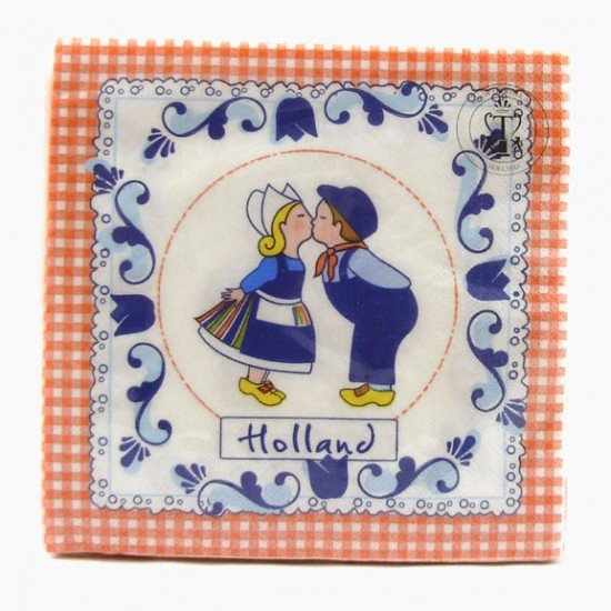 NAPKINS KISSING COUPLE COLOR