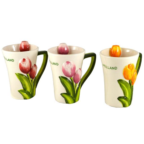 set 3d design mugs tulips tulips generally holland souvenir shop nl. Black Bedroom Furniture Sets. Home Design Ideas