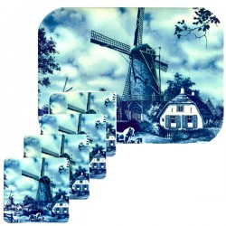 SET TABLEMAT AND COASTERS WINDMILL HORSE