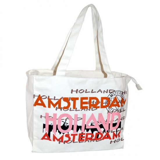 SHOPPER SKYLINE WHITE AMSTERDAM HOLLAND