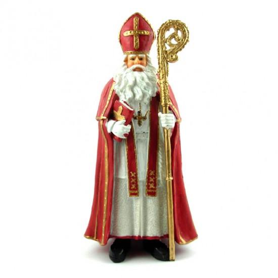 Heiligen nikolaus polystone statue 18 cm