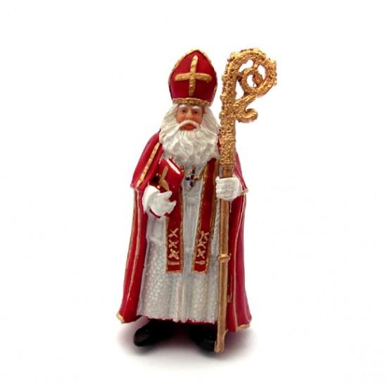 Heiligen nikolaus polystone statue 9 cm