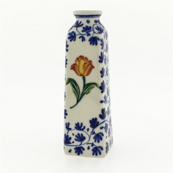 SMALL TULIP VASE ORANGE TULIP DELFT BLUE