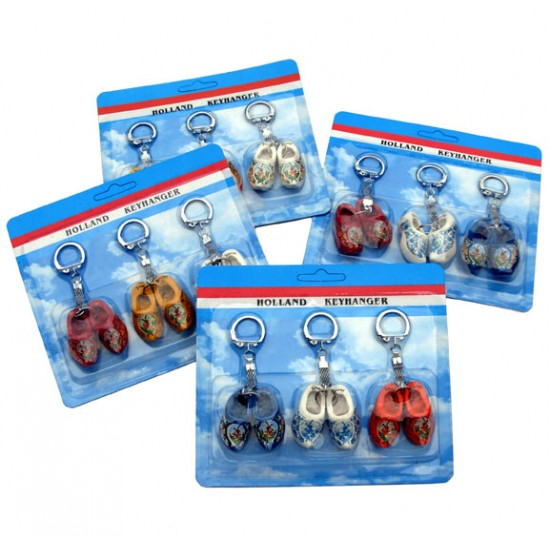 KEYCHAIN 2 WOODEN CLOGGIES ASSORTIE