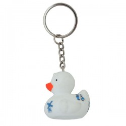 KEYRING RUBBER DUCK DELFT BLUE