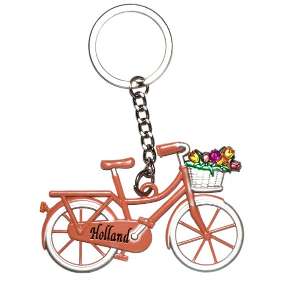 KEYCHAIN BICYCLE HOLLAND BASET TULIPS COLOR