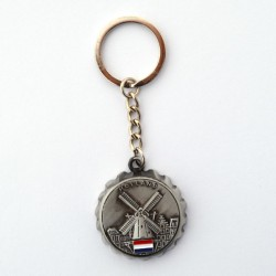 KEYCHAIN BOTTLE OPENER WINDMILL HOLLAND FLAG