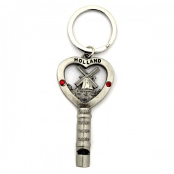 KEYRING WHISTLE WINDMILL HOLLAND STRASS