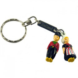 KEYCHAIN HOLLAND FARMER AND WIFE 5 CM