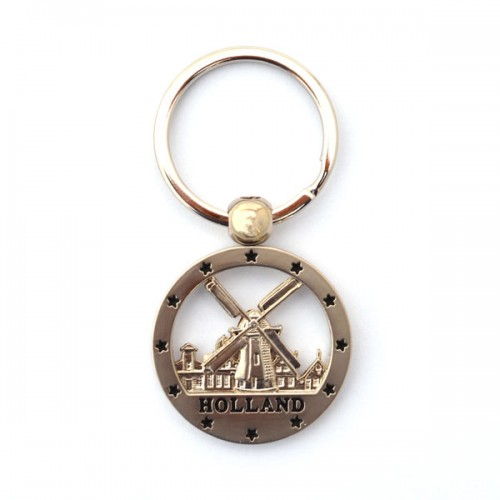 keychain holland windmill round press keychains holland souvenir shop nl. Black Bedroom Furniture Sets. Home Design Ideas