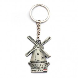 KEY RING HOLLAND WINDMILL FLAG TIN COLORED