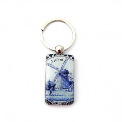 KEYRING WINDMILL HOLLAND DELFT BLUE