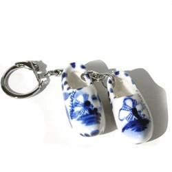 KEYCHAIN PAIR DELFT BLUE CLOGS 4 CM