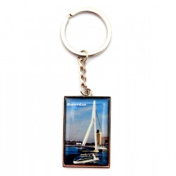 KEY RING ROTTERDAM ERASMUS BRIDGE DELUXE