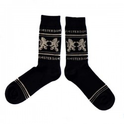 SOCKS AMSTERDAM LION BLACK BEIGE