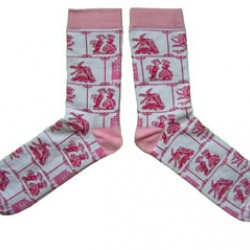 SOCKS DELFT PINK TILES