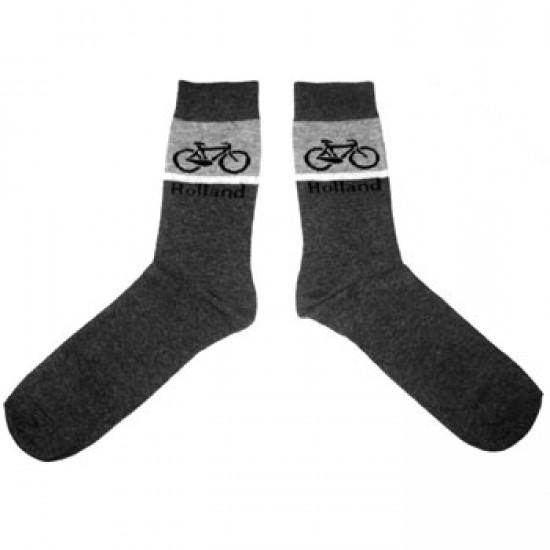 Socken fahrrad graufarbig