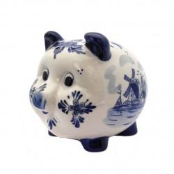 PIGGY BANK DELFT BLUE 15 x 12.5 x 12.5 CM