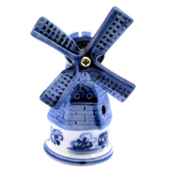 DELFT BLUE STONE WINDMILL ROUND 10 CM