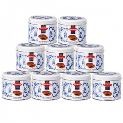SYRUP WAFFERS IN DELFT BLUE TIN 9 TINS