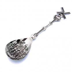 SUGAR SCOOP SILVER PLATED NIGHTWATCH WINDMILL ROTATING WINGS