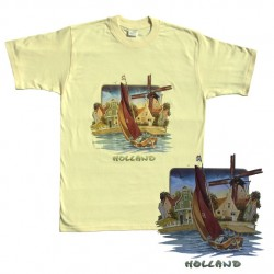 T-SHIRT BOTTER WINDMILL HOLLAND - OFF WHITE / SOFT YELLOW