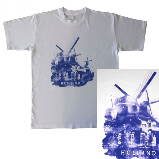 T-SHIRT HOLLAND WINDMILL BLUE