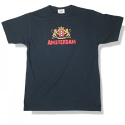 T-SHIRT NAVY FASHION SIGN AMSTERDAM