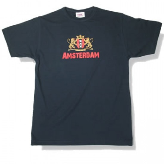 T-shirt navy fashion stadtlogo amsterdam