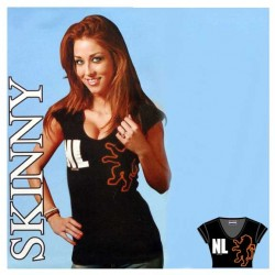 T-SHIRT NL SKINNY BLACK LION LADYFIT