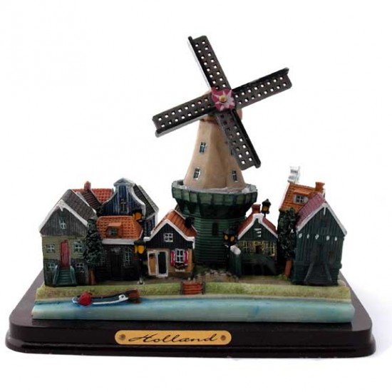 SCENES VILLAGE HOLLAND WINDMILL 13 CM