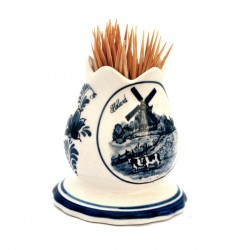 TOOTH STICK HOLDER DELFT BLUE TULIP SHAPE