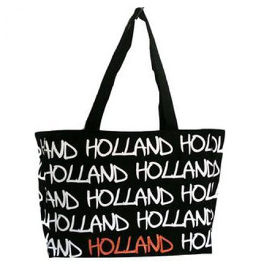 BAG CANVAS HOLLAND BLACK LARGE