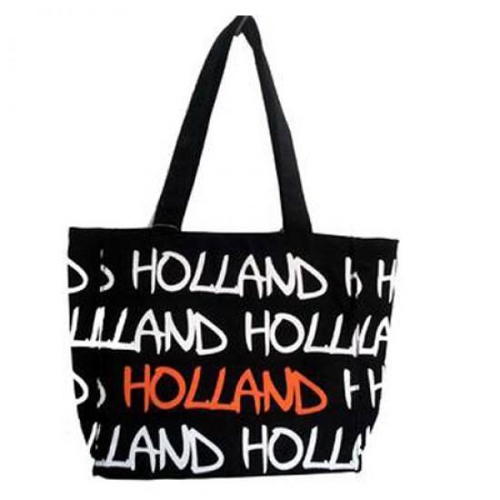 Bag canvas holland black medium 32 x 24 x 11 cm