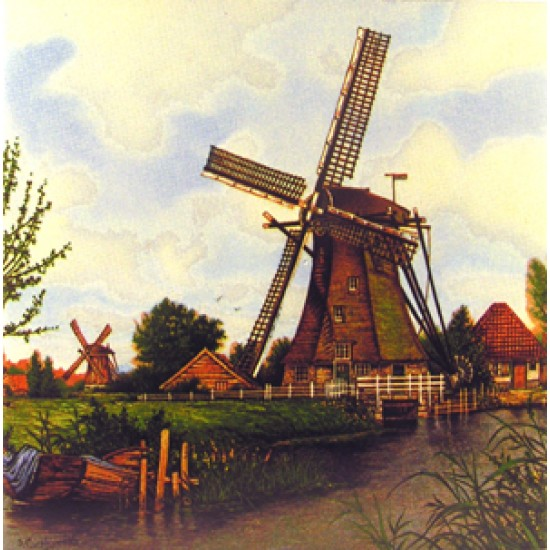 TILE WINDMILL BOAT VAN HUNNIK COLOR