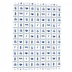 DISH TOWEL DELFT BLUE SMALL TILES