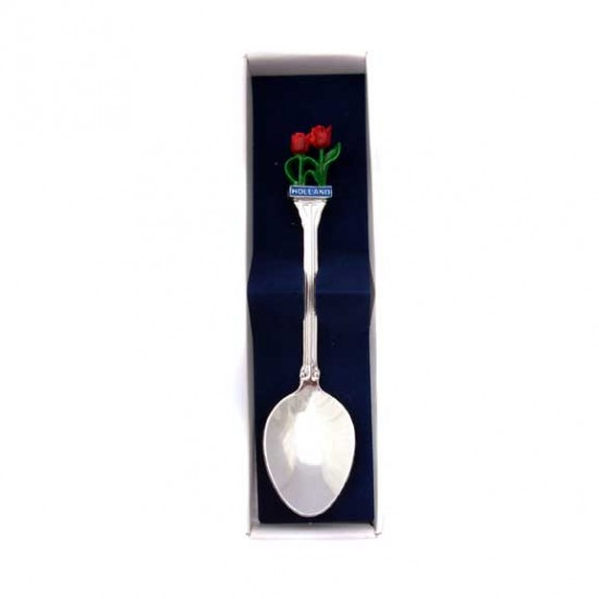 TEASPOON SILVER PLATED HOLLAND TULIP COLOR