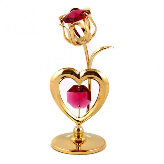 GILDED TULIP HEART PINK