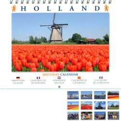 BIRTHDAY CALENDAR HOLLAND BIG