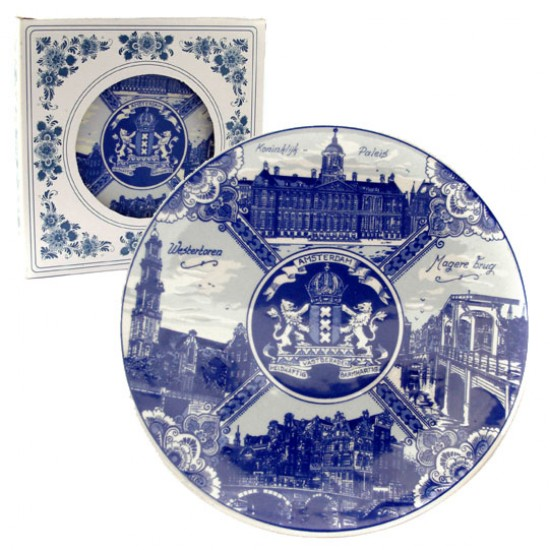 Plate amsterdam collection delft blue 19 cm