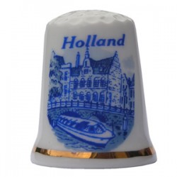 THIMBLE CANAL HOLLAND DELFT BLUE