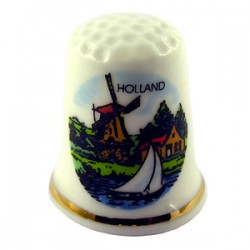 THIMBLE HOLLAND WINDMILL SAILBOAT COLOR