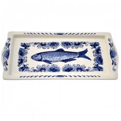 FISH DISH DELFT BLUE