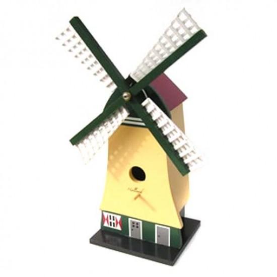 BIRD HOUSE WOOD WINDMILL 40 CM