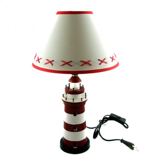 LIGHT HOUSE LAMP RED / WHITE