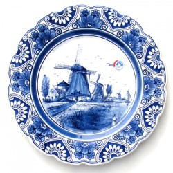 WALL PLATE DELFT BLUE WITH SCALLOPED EDGE 18 CM