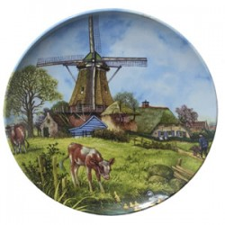 WALL PLATE VAN HUNNIK COW LANDSCAPE COLOR